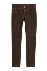 Closed Baker Velvet Skinny Jeans Brown