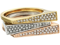 Michael Kors Collection Pave Triangle Stackable Rings