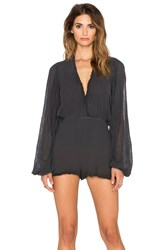 Jens Pirate Booty Tumbleweed Playsuit Charcoal