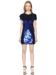 Amen Short Sleeves Sequined Tulle Dress