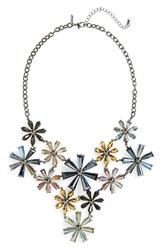 Women's Topshop Bead Flower Statement Necklace