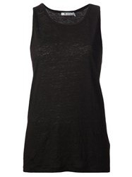 Alexander Wang T By Oversized Tank Top Black