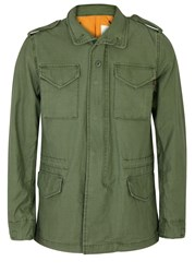 Alpha Industries M 65 Army Green Cotton Field Jacket Olive