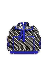 Pierre Hardy Cube Print Coated Canvas Backpack