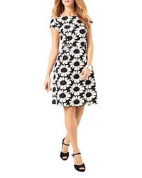 Phase Eight Daisy Jacquard A Line Dress Black Ivory