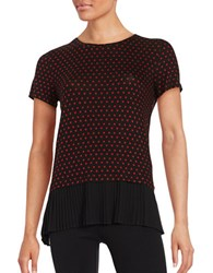 Michael Michael Kors Polka Dot Tee Red