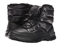 The North Face Thermoball Lace Ii Shiny Tnf Black Iron Gate Grey Women's Pull On Boots