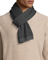 John Varvatos Whipstitch Knit Scarf Shadow