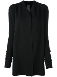 Rick Owens V Neck Cardigan Black