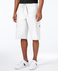 Sean John Men's Big And Tall Lightweight Cargo Shorts Bright White