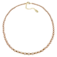Finesse Rhodium Plated Faux Pearl Necklace