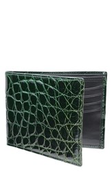 Men's Trafalgar Genuine Alligator Leather Billfold Green Forest Green
