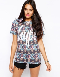 Hype T Shirt With Regal Repeat All Over Print Multi