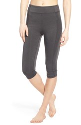 Women's Ivy Park 'Y' High Rise Capri Leggings Dark Grey Marl