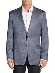 Versace Regular Fit Woven Sportcoat Blue