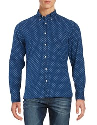 Brooks Brothers Chambray Printed Sportshirt Blue