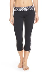 Hurley Women's Dri Fit Paneled Crop Leggings Black