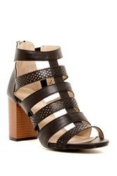 Groove April Perforated Chunky Sandal Black