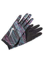 Nike Performance Rival Gloves Black Silver Anthracite