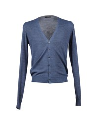 Bellwood Knitwear Cardigans Men Slate Blue
