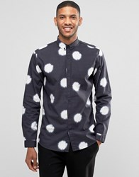 Lindbergh Shirt With Batik Print Black