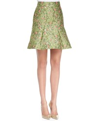 Zac Posen Floral Jacquard Fit And Flare Skirt Wisley Wisley Jacquard