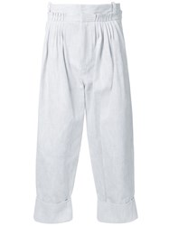 J.W.Anderson Pleated Loose Fit Trousers White