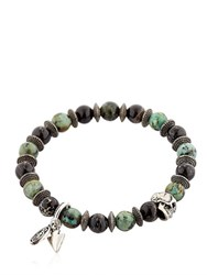 Bootleggers African Turquoise And Black Bracelet