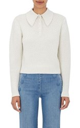Frame Women's Shawl Collar Crop Sweater Ivory