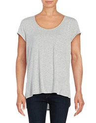 Lord And Taylor Solid Pocket Tee Grey