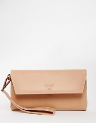 Matt And Nat Flap Over Wallet With Wristlet Beige