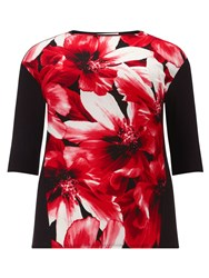 Windsmoor Floral Print Jersey Top Multi Coloured