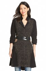 Nic Zoe 'Textured Twirl' Belted Knit Coat Regular And Petite Multi