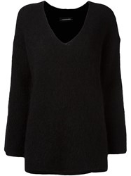 By Malene Birger V Neck Sweater Black