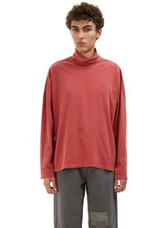Olderbrother Roll Neck Jersey Sweater Red