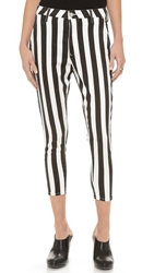 Thvm Behati Stripe Zip Trousers Black White