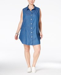 Stoosh Plus Size Chambray Shirtdress