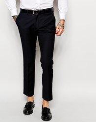 Only And Sons Suit Trousers In Slim Fit Navy