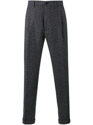Etro Herringbone Trousers Blue