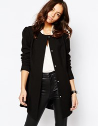 Jdy J.D.Y Collarless Coat Black