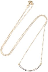 Ileana Makri Iam By Rainbow Rain Crystal Embellished Gold Plated Necklace