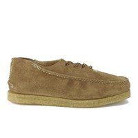 Yuketen Men's Stream Moc Oxford Leather Lace Up Creepers Brown