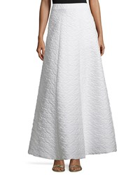 Alice Olivia Carina Jacquard Ball Skirt White Size 2