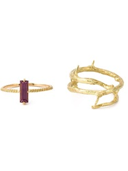 Wouters And Hendrix Gold Rhodolite Set Of Rings Metallic