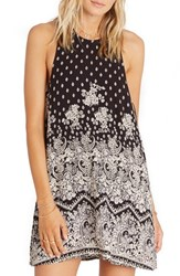 Billabong Women's Wild Sun Animal Print Shift Dress Off Black