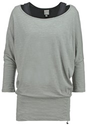 Bench Tangle Ii Long Sleeved Top Mid Grey Mottled Grey