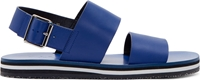Marni Blue Leather Flat Sandals