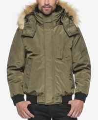 Marc New York Knox Memory Bomber Jacket With Faux Fur Hood Grove