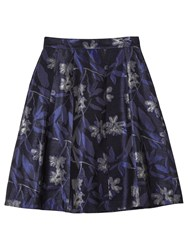 Precis Petite By Jeff Banks Metallic Floral Jacquard Skirt Black Multi