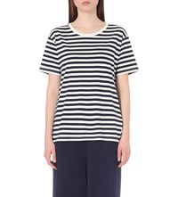 Izzue Striped Cotton Jersey T Shirt Nyd